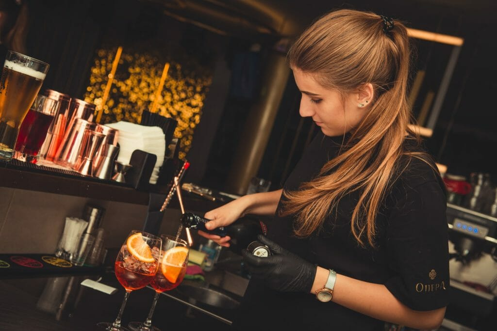 A bartending career could involve working in an upscale environment